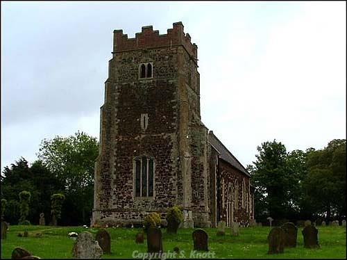 Photograph of St Mary's Church, Wimbotsham, a 12th century parish church with some late 13th century work and a mid 19th century chancel. Photograph from www.norfolkchurches.co.uk