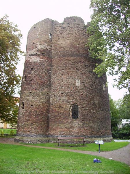 Photograph of the Cow Tower, Norwich.
