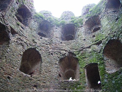 Photograph of the interior of the Cow Tower, Norwich.