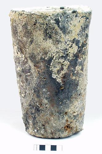 A post medieval crucible found in the Grapes Hill area, Norwich.