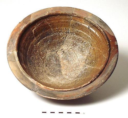 A Roman mortarium from Caistor St Edmund.