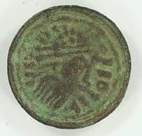 An Early Saxon nummular brooch from Martham. The brooch imitates a Roman coin.