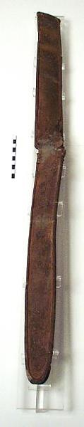 Photograph of an Iron Age scabbard from Congham. Photograph from MODES.