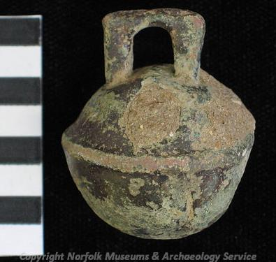 A post medieval animal bell found at Thornage.