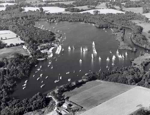 Aerial photograph of Wroxham Broad.