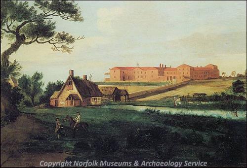 A painting of Gressenhall Mill and workhouse dated to 1810.