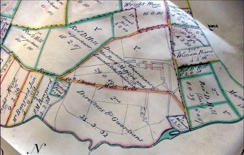 The 1813 parliamentary enclosure map of Gressenhall.