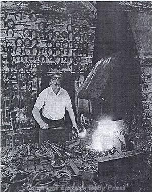 Photograph of the blacksmith's workshop in Heydon. Photograph from Eastern Daily Press.