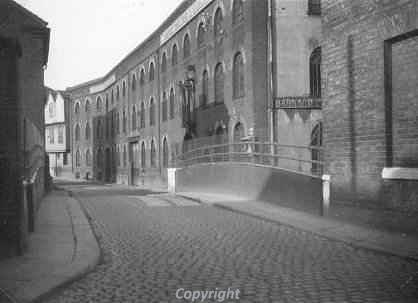 Photograph of the old iron foundry on Coslany Street, Norwich.