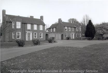 Photograph of the married quarters built between 1928 and 1939 on Bircham Newton airfield.