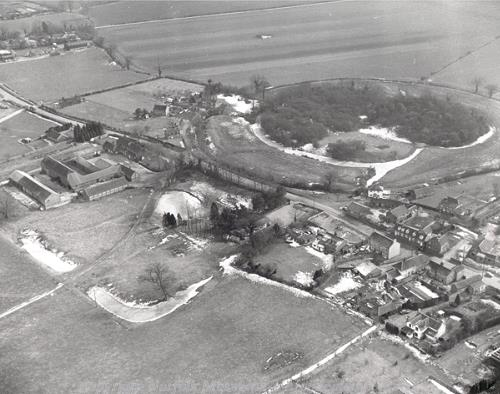 Aerial photograph of Mileham Castle.