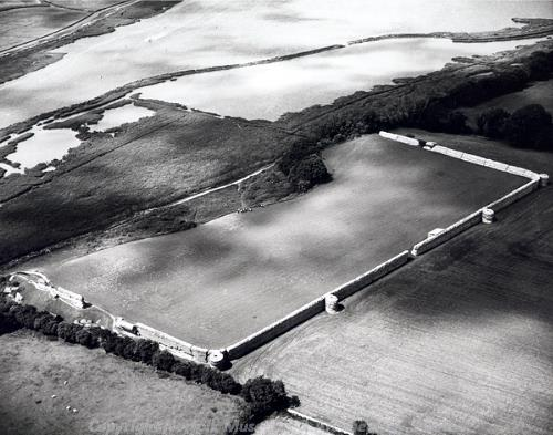 Aerial photograph of Burgh Castle Roman fort.