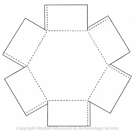 Drawing of the template used for making a model pillbox.