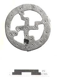 Photograph of an Early Saxon brooch from Old Hunstanton.