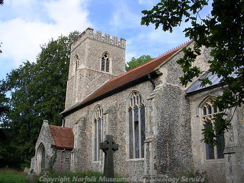 Photograph of All Saints' Church, Brandon Parva.