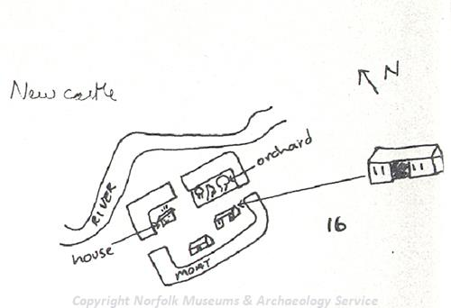 Sketch of a map of Morley Castle.