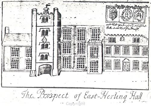 Sketch of East Harling Hall.