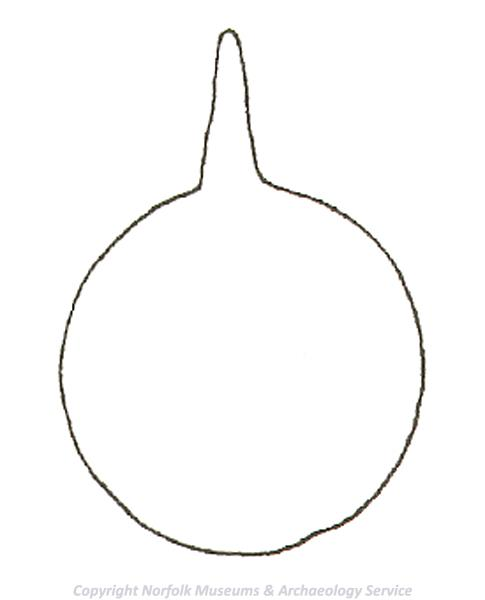 Drawing of the template used to make a circular medieval horse harness pendant.