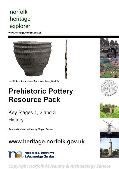 Photograph of the front cover of the Prehistoric Pottery Resource Pack.