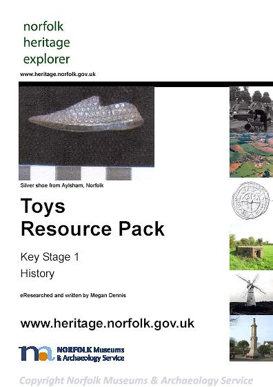 Photograph of the front cover of the Toys Resource Pack.