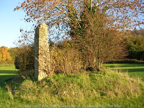 Photograph of the ruins of St Edmund's Chapel, Lyng. These fragmentary remains of a probably 15th century priory church.