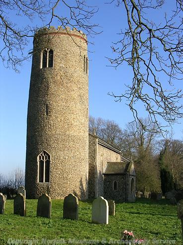 Photograph of St John the Baptist's Church, Morningthorpe.