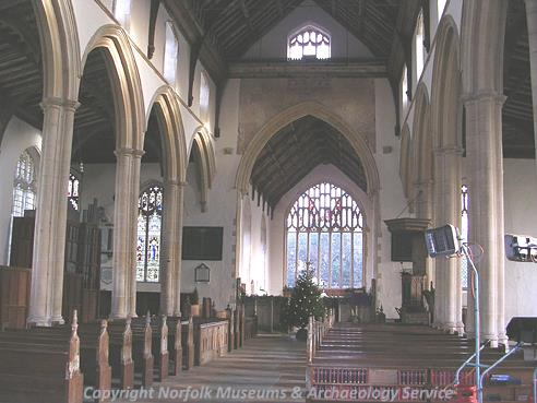 Photograph of the interior of St Peter's and St Paul's Church, Salle.