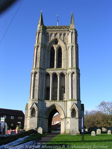Photograph of the bell tower of St Mary's Church, West Walton.