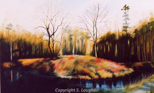 Photograph of Mona Hill by Susan Laughlin, a painting inspired by Mona Hill, Necton.