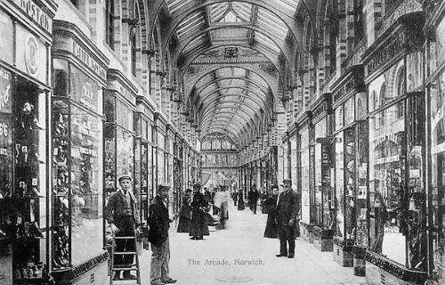 Photograph of The Royal Arcade, Norwich. From Picture Norfolk.