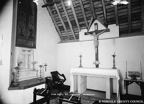 Photograph of St Julian's Cell, Norwich. From Picture Norfolk.