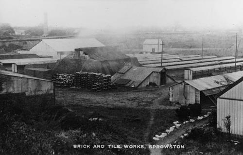 Photograph of Ruymps Brickworks, Sprowston. From Picture Norfolk.