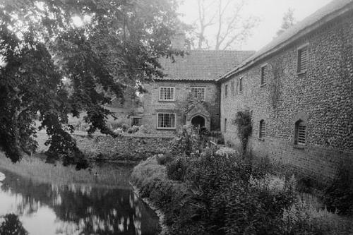 Photograph of the 18th and 19th century brewery and maltings at Letheringsett. From Picture Norfolk.