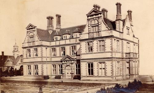 Photograph of Garboldisham Manor, a post medieval manor complex completed by George Gilbert Scott junior in 1873. From Picture Norfolk.