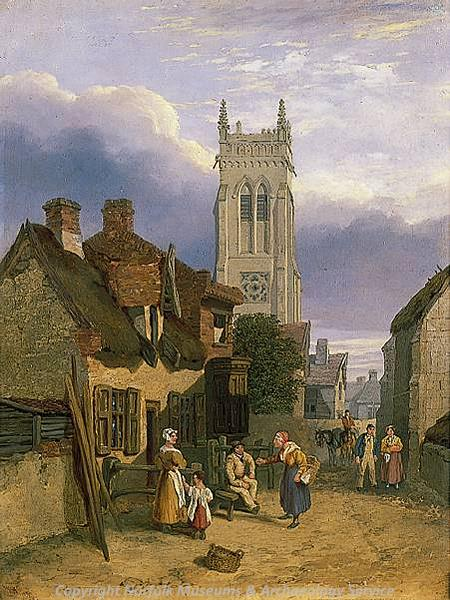 Photograph of 'Cromer Church' a painting by Henry Ninham.