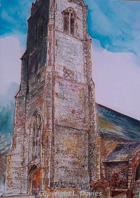 Photograph of 'Bacton Church' by Lewis Davies.
