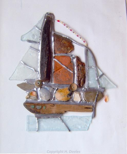 Photograph of stained glass by Hilary Davies.
