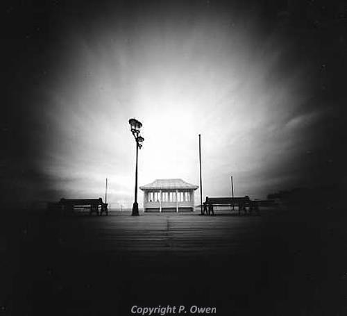Pin-hole camera photograph of Cromer Pier by Peter Owen.