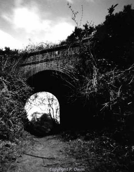 Pin-hole camera photograph of Overstrand Railway Bridge by Peter Owen.