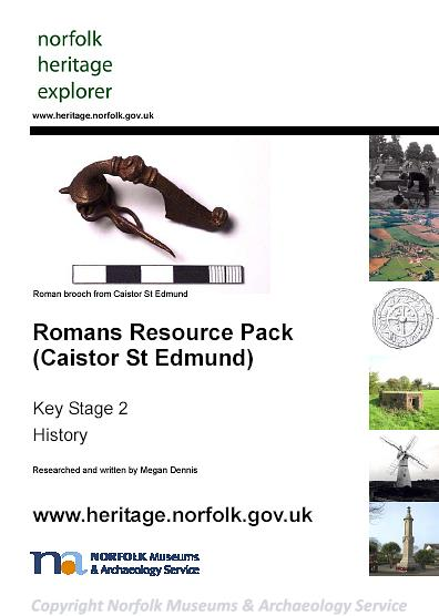 Photograph of the front cover of the Romans Resource Pack (Caistor St Edmund).