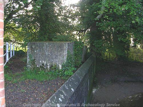 Photograph of anti-tank blocks at Sparham.