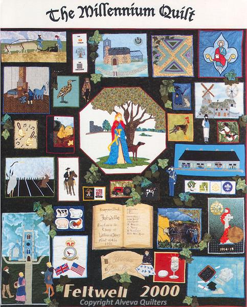 Photograph of the Alveva Quilters' Millenium Quilt.