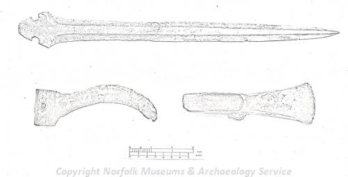 Photograph of a Middle Bronze Age hoard found in Downham West.