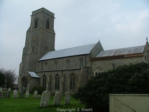 Photograph of St Botolph's Church, Trunch. Photograph from www.norfolkchurches.co.uk