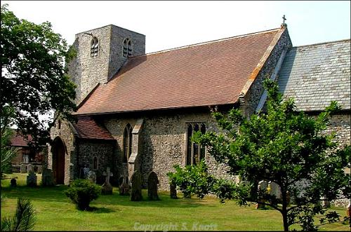 Photograph of St John the Baptist's Church, Trimingham. Photograph from www.norfolkchurches.co.uk