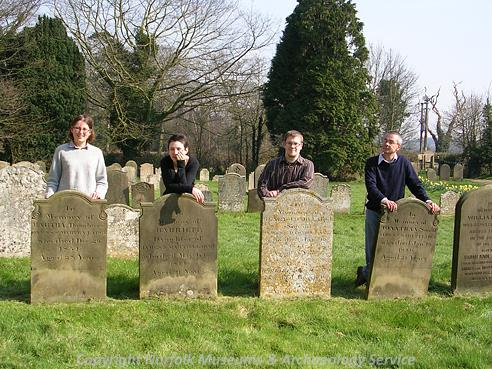 Photograph of the Norfolk Heritage Explorer team in 2007.