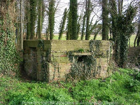 Photograph of a World War Two pillbox in Walsingham.
