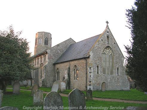 Photograph of All Saints' Church, Poringland.