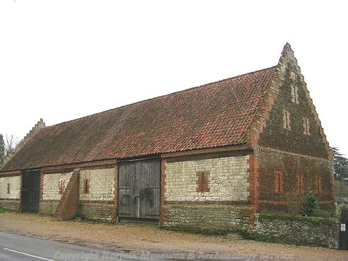 Photograph of Dersingham tithe barn.