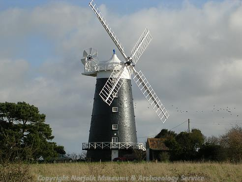 Photograph of Burnham Overy windmill.
